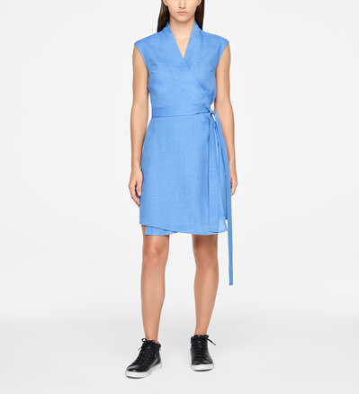 Sarah Pacini WRAP DRESS - KNEE-LENGTH Front