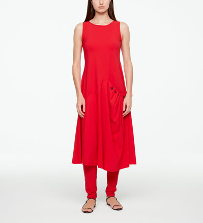 Sarah Pacini MAXI DRESS - TECHNO FABRIC Front