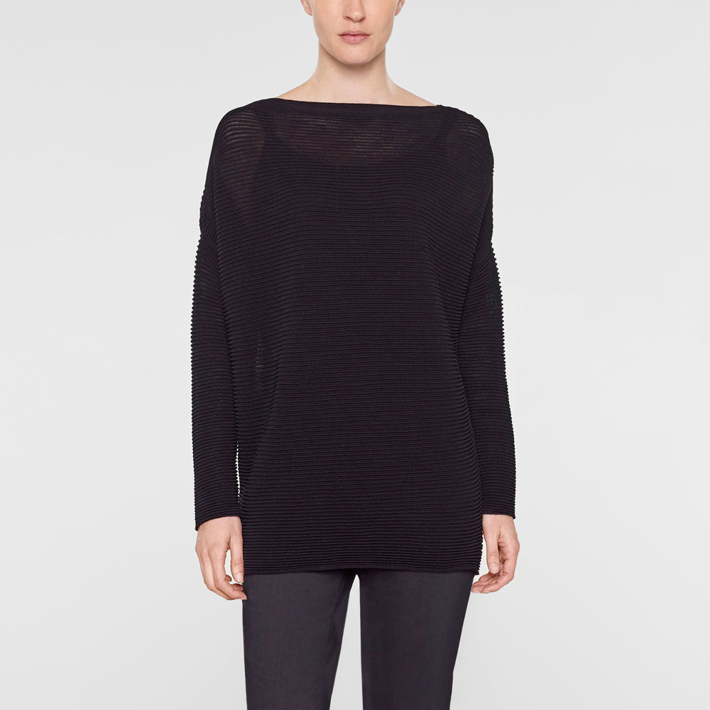 Sarah Pacini Long loose-fit sweater Front
