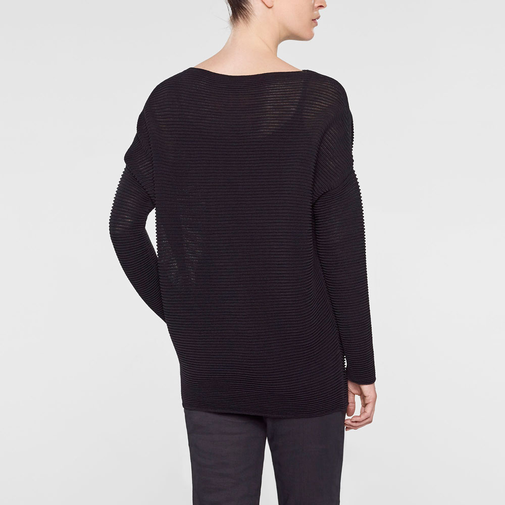 Sarah Pacini Long loose-fit sweater Back view
