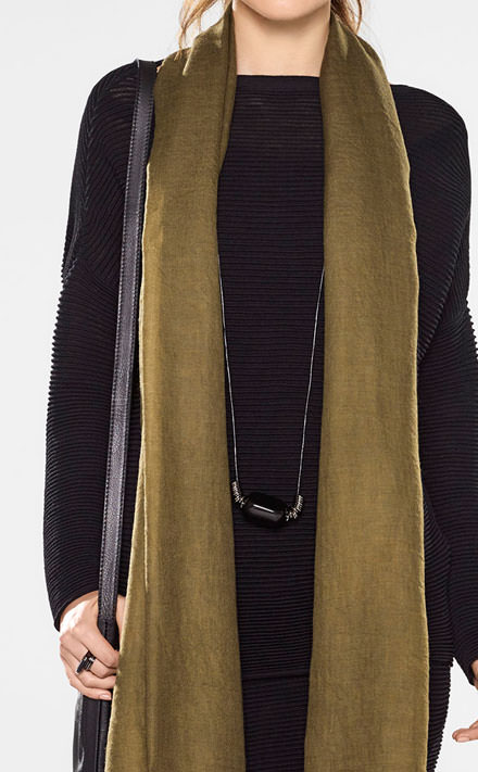 Sarah Pacini Long loose-fit sweater Look