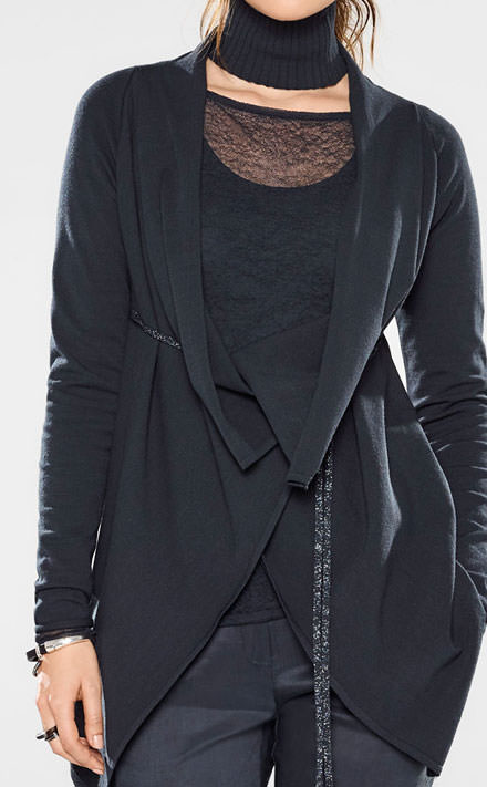 Sarah Pacini Long fitted sweater Look