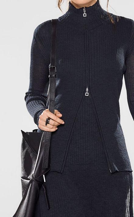 Sarah Pacini Long cap sleeve sweater Look