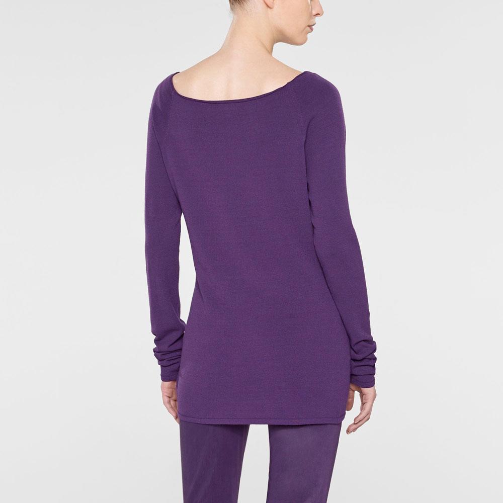 Sarah Pacini Langer taillierter sweater Rück