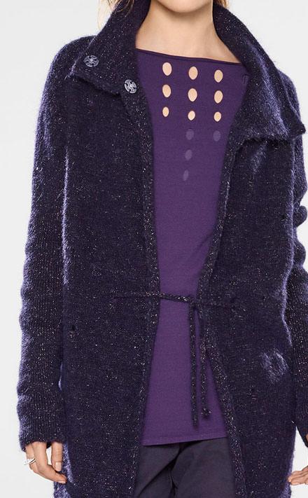 Sarah Pacini Langer taillierter sweater Look