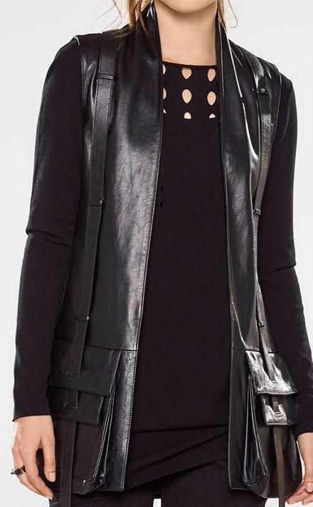 Sarah Pacini Lange trui Look