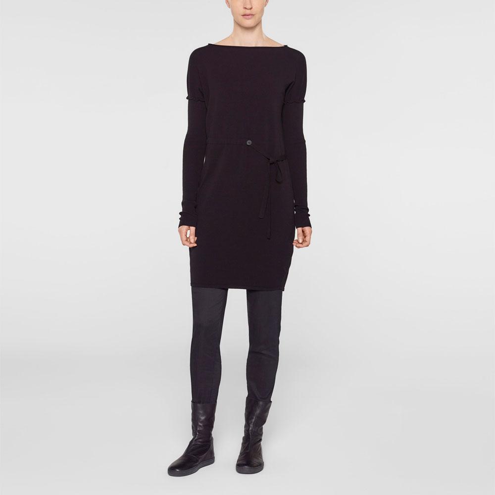 Sarah Pacini Lange trui met zachte riem Voorzijde