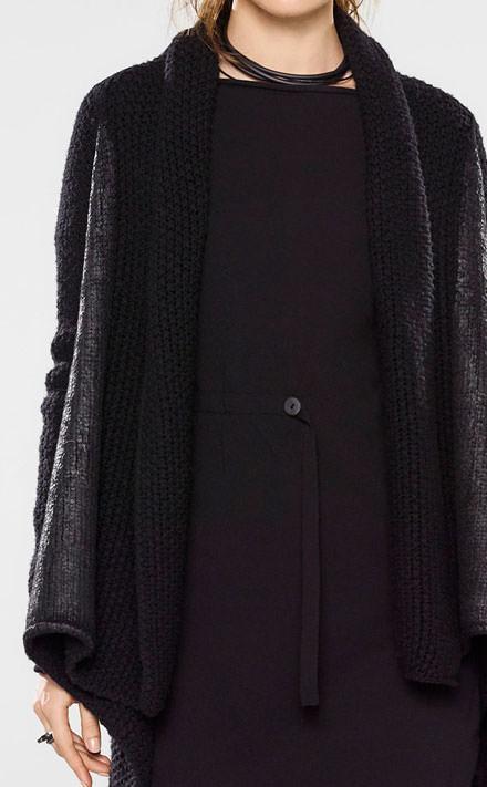 Sarah Pacini Lange trui met zachte riem Look