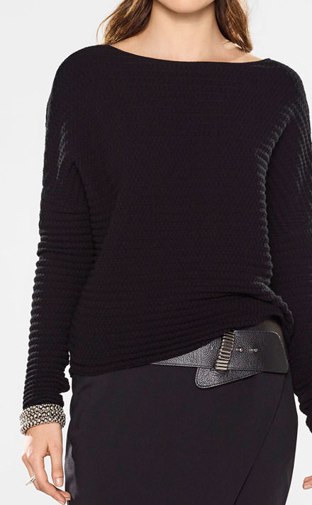 Sarah Pacini Cropped sweater, relaxed fit Look