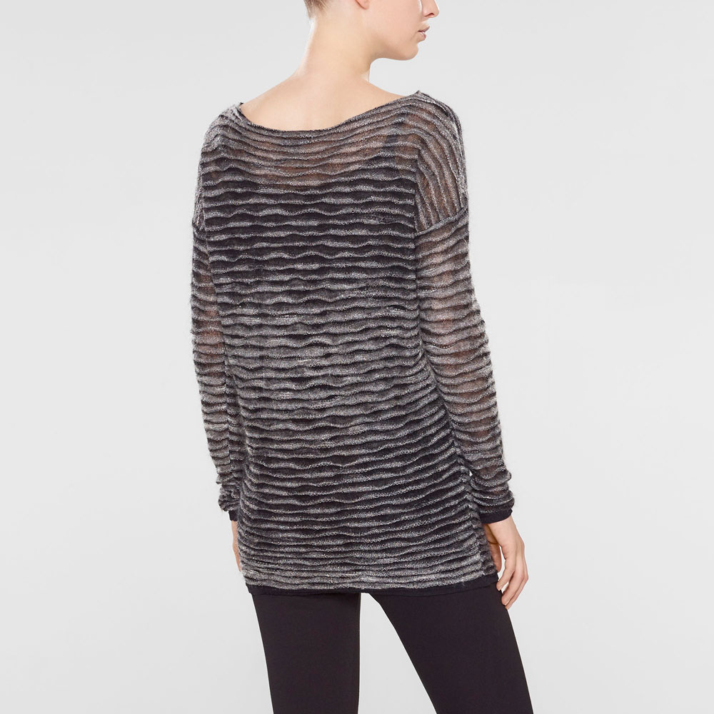 Sarah Pacini Lockerer langer sweater Rück