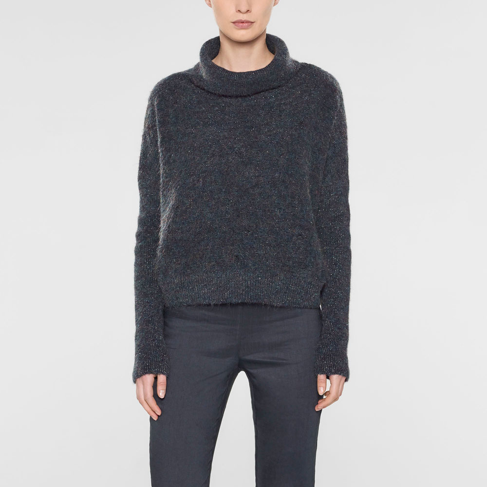 Sarah Pacini Kurzer sweater mit kragen Vorne