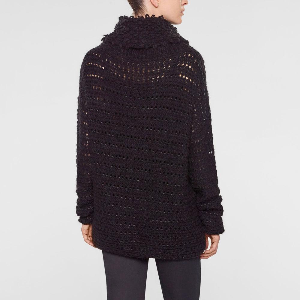 Sarah Pacini Langer sweater mit trichterkragen Rück