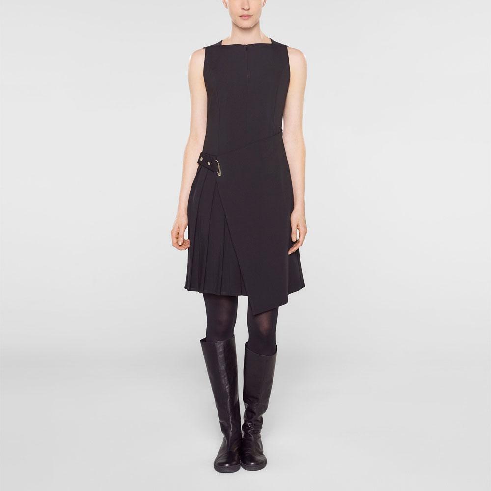 Sarah Pacini Mouwloze korte jurk Voorzijde
