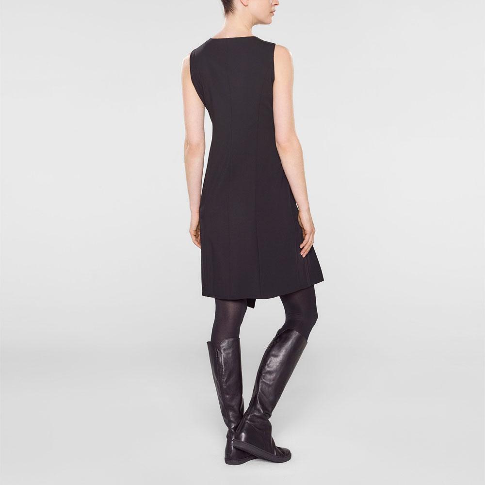 Sarah Pacini Mouwloze korte jurk Achterzijde