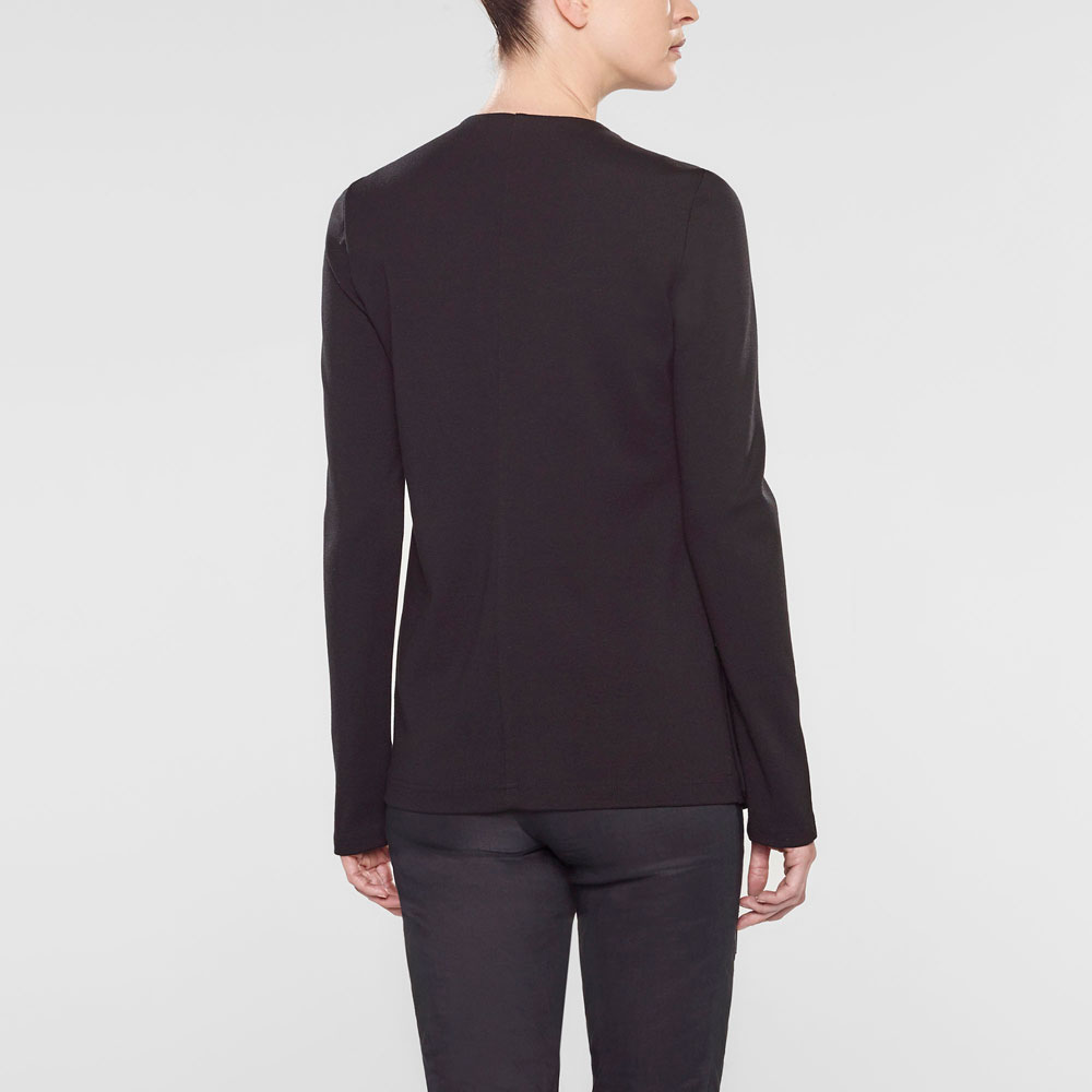 Sarah Pacini Long fitted assymetrical style jacket Back view