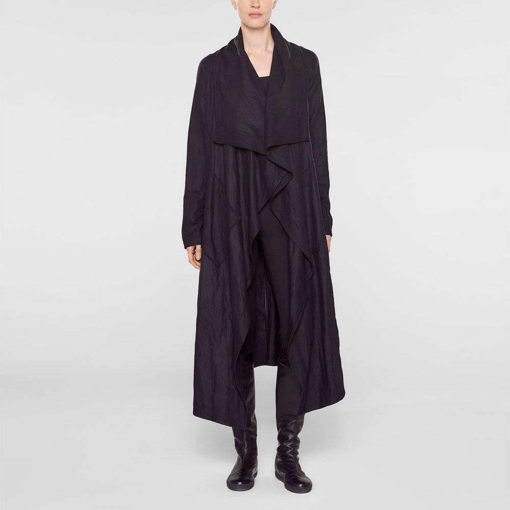 Langer mantel trichterkragen mantel mit Langer WCBrdxoe