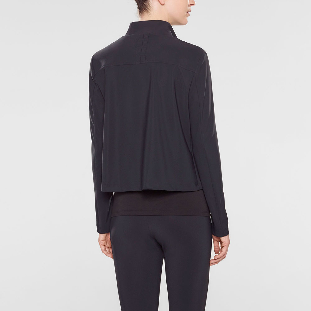 Sarah Pacini Short jacket, asymmetrical collar Back view