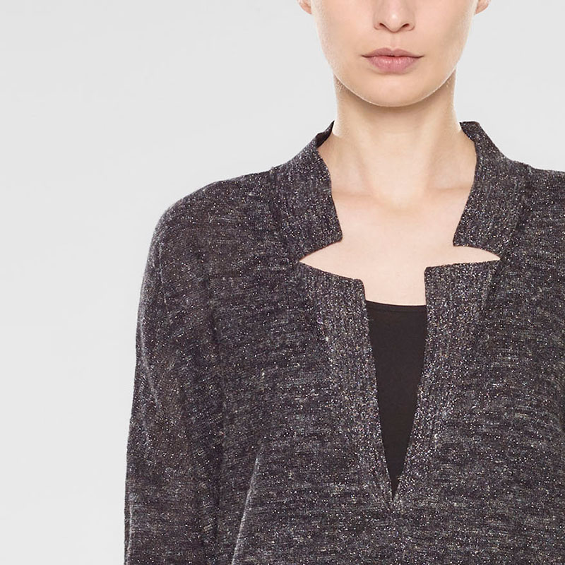 Sarah Pacini V-neck long sweater Front