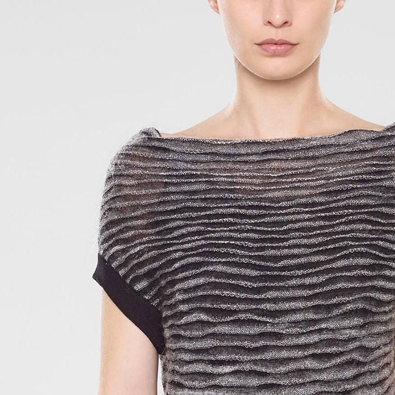 Sarah Pacini Ärmelloser sweater mit schalkragen Vorne