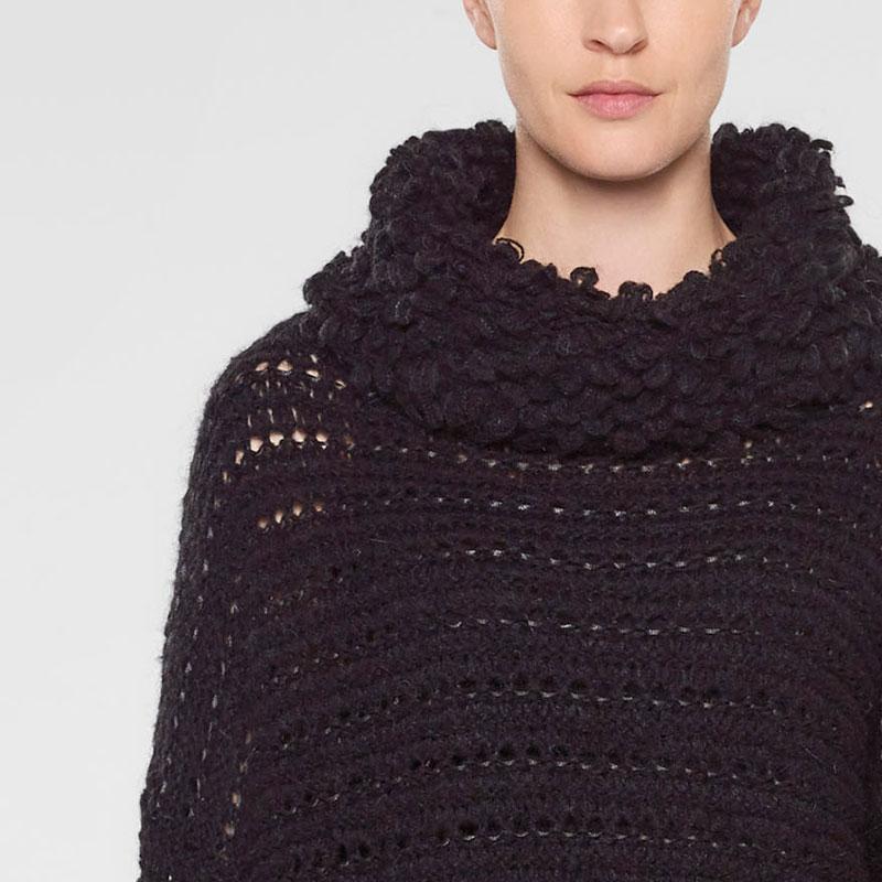Sarah Pacini Langer sweater mit trichterkragen Vorne