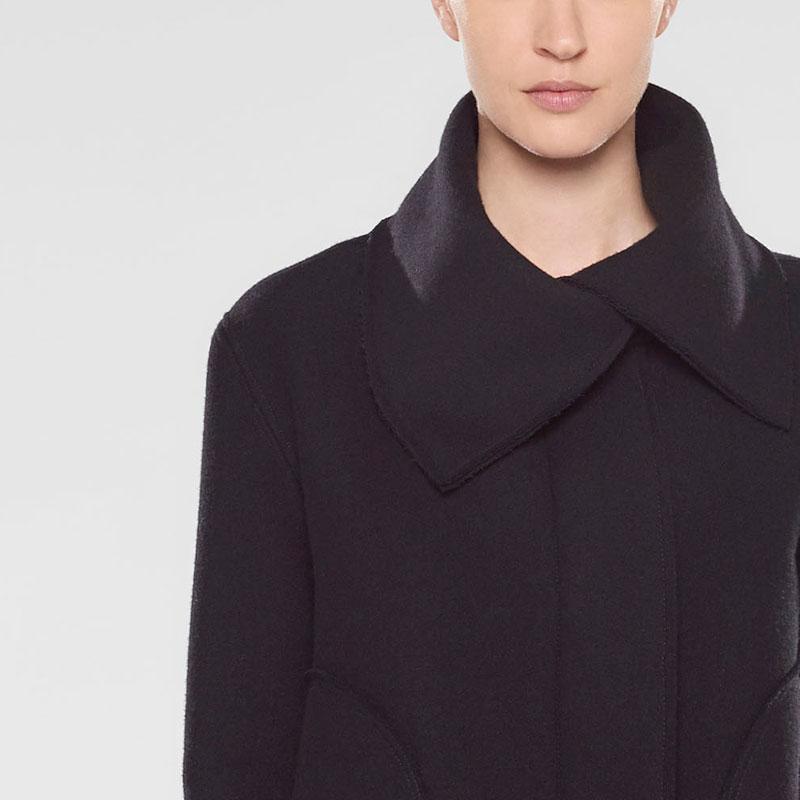 Sarah Pacini Kurzer ausgestellter mantel Vorne