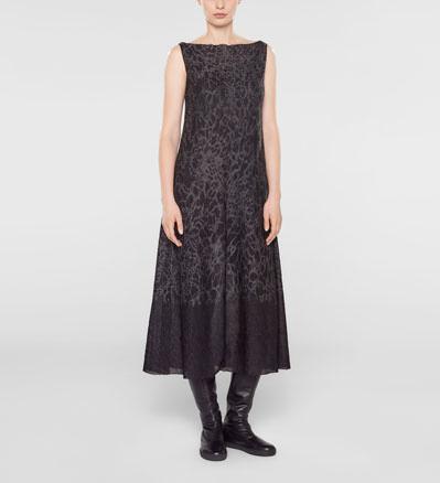 Sarah Pacini Mouwloze lange jurk Voorzijde