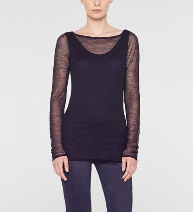 Sarah Pacini Long fitted sweater Front
