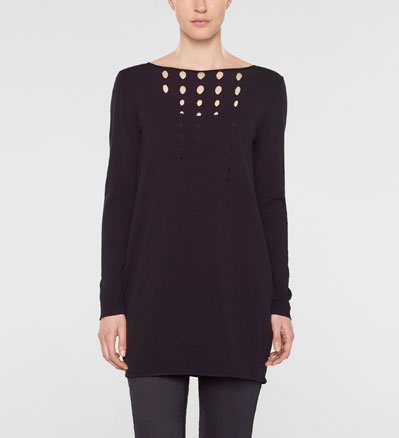 Sarah Pacini Long tulip sweater Front