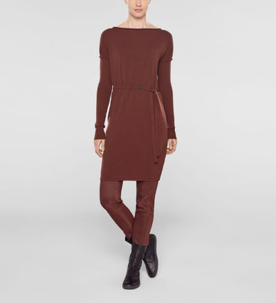 Sarah Pacini Long sweater with soft belt Front
