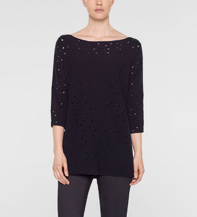 Sarah Pacini Langer lockerer sweater Vorne
