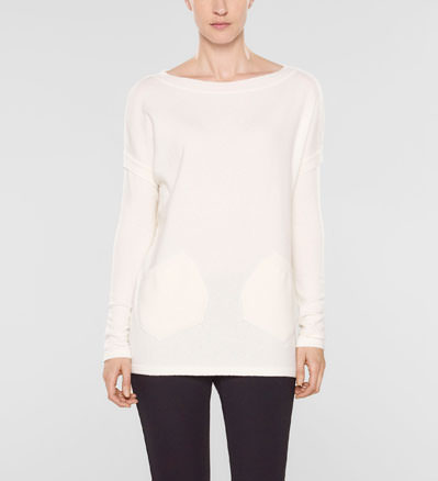 Sarah Pacini Long sweater with pockets Front