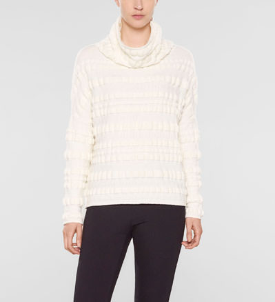 Sarah Pacini Funnel neck sweater, loose fit Front