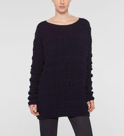 Sarah Pacini Lockerer langer sweater Vorne