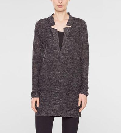 Sarah Pacini Lange trui met v-hals Voorzijde