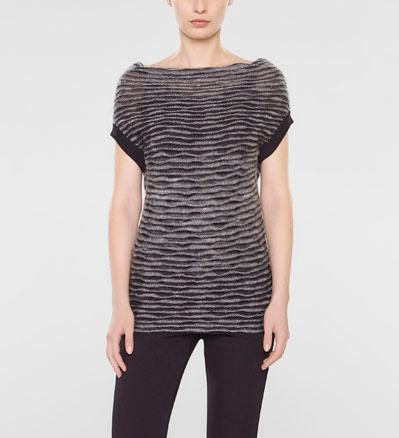 Sarah Pacini Sleeveless sweater, cowl neck Front