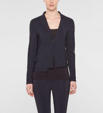 Sarah Pacini Short jacket, asymmetrical collar Front