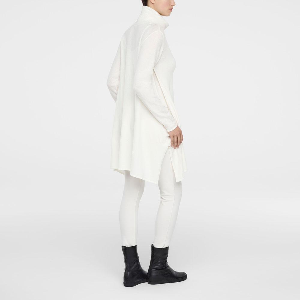 de8be61c06f1d6 Gebroken witte jurk met lange mouwen en zijsplitten - Sarah Pacini