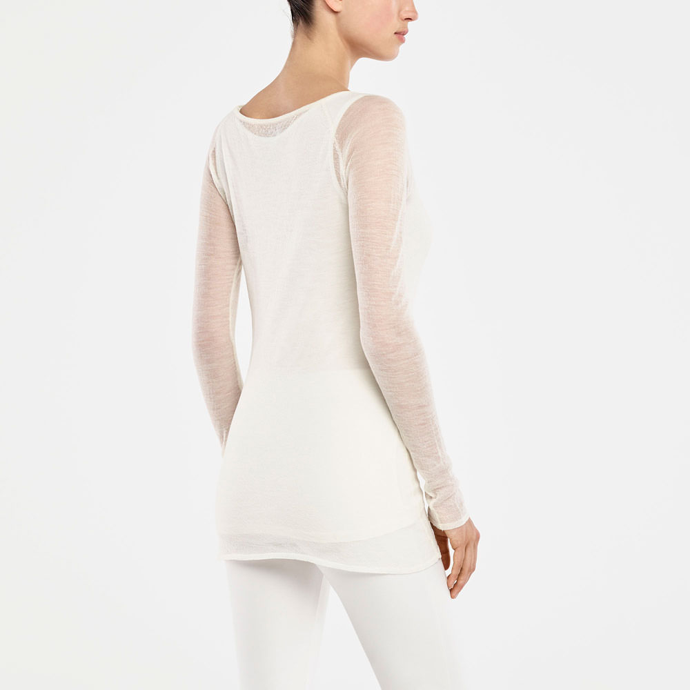 Sarah Pacini TRANSPARENTER SWEATER Rück