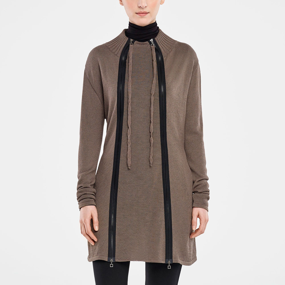Sarah Pacini CARDIGAN LONG - PANNEAU DÉTACHABLE De face