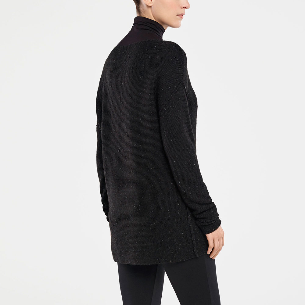 Sarah Pacini REVERSIBLE CARDIGAN - BRILLIANT KNIT Back view