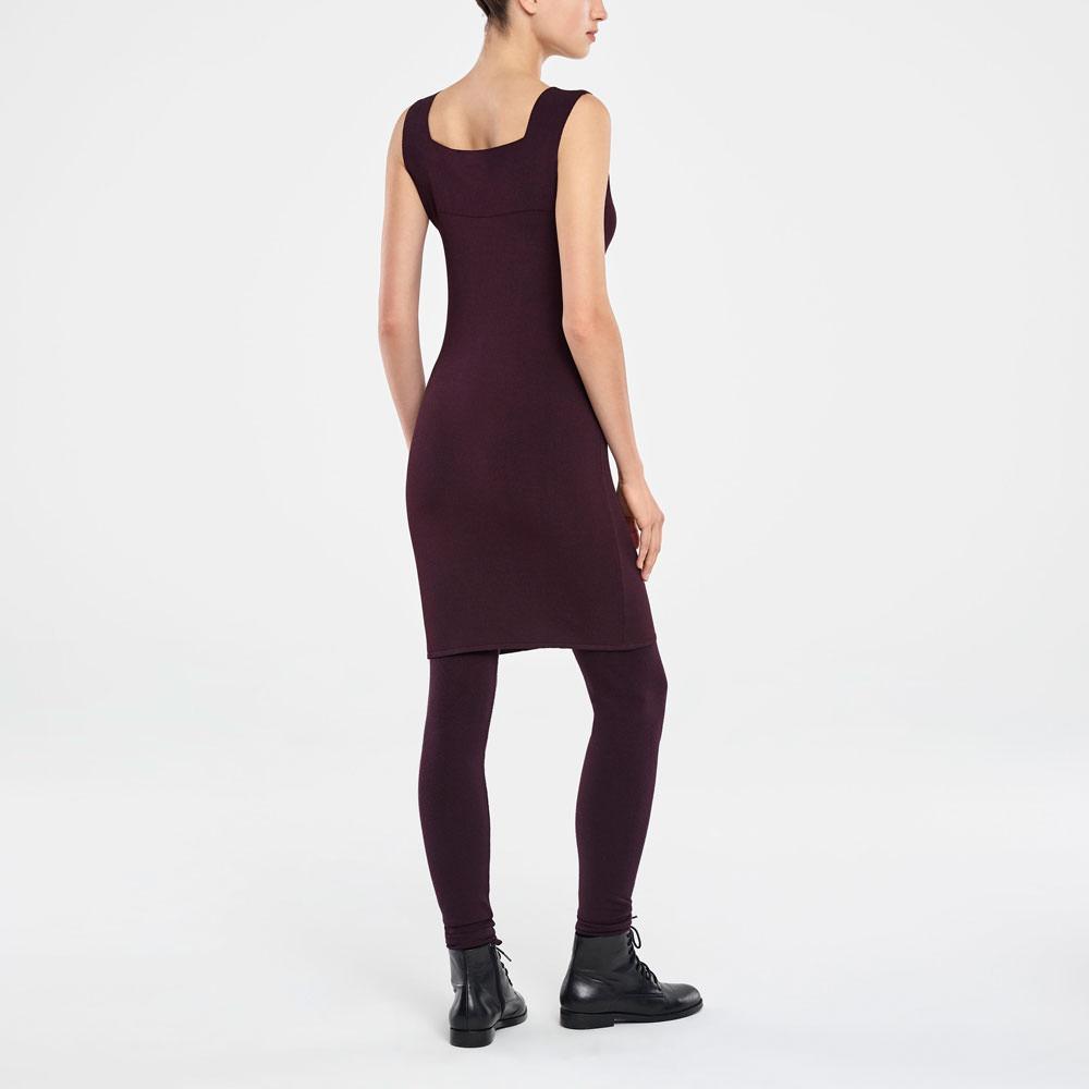 Sarah Pacini KNEE-LENGTH DRESS - SQUARE NECKLINE Back view