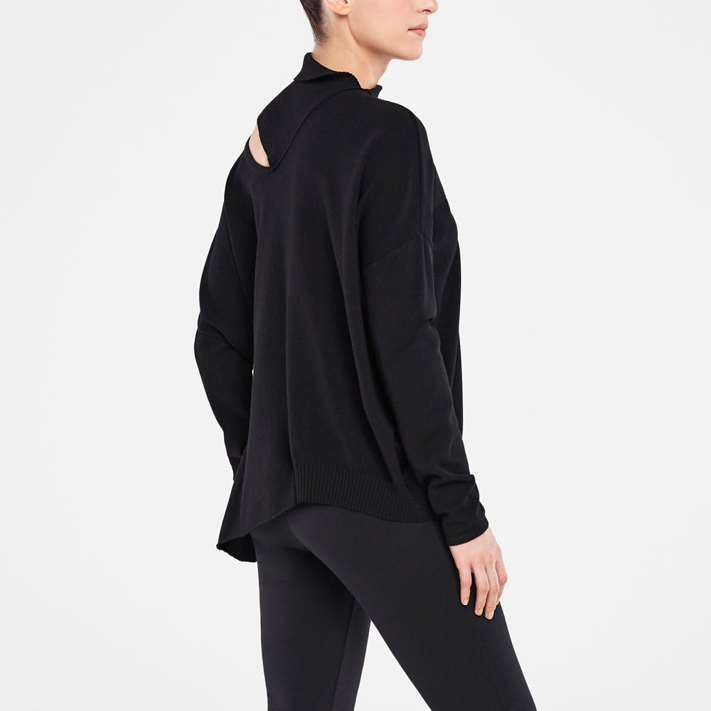 Sarah Pacini SWEATER - VERSATILE COLLAR Back view