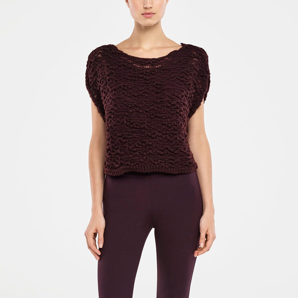 Sarah Pacini SLEEVELESS SWEATER - TRANSLUCENT Front
