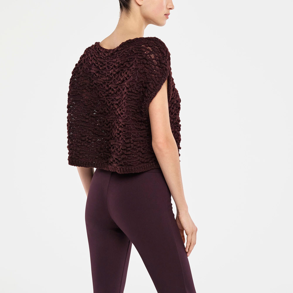 Sarah Pacini SLEEVELESS SWEATER - TRANSLUCENT Back view