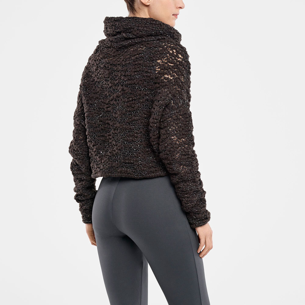 Sarah Pacini CROPPED SWEATER - BRILLIANT THREADING Back view
