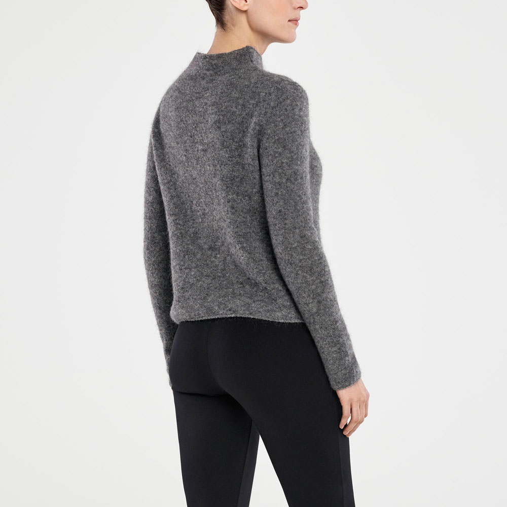Sarah Pacini MOHAIR SWEATER - MOCK NECK Back view