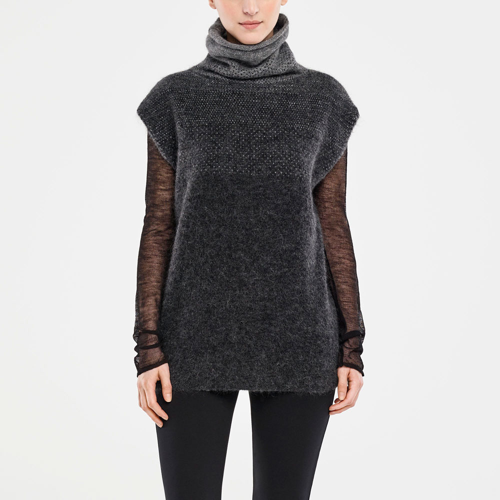 Sarah Pacini SLEEVELESS SWEATER - OMBRÉ DESIGN Front