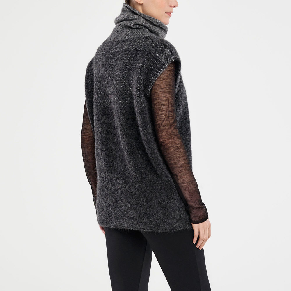 Sarah Pacini SLEEVELESS SWEATER - OMBRÉ DESIGN Back view
