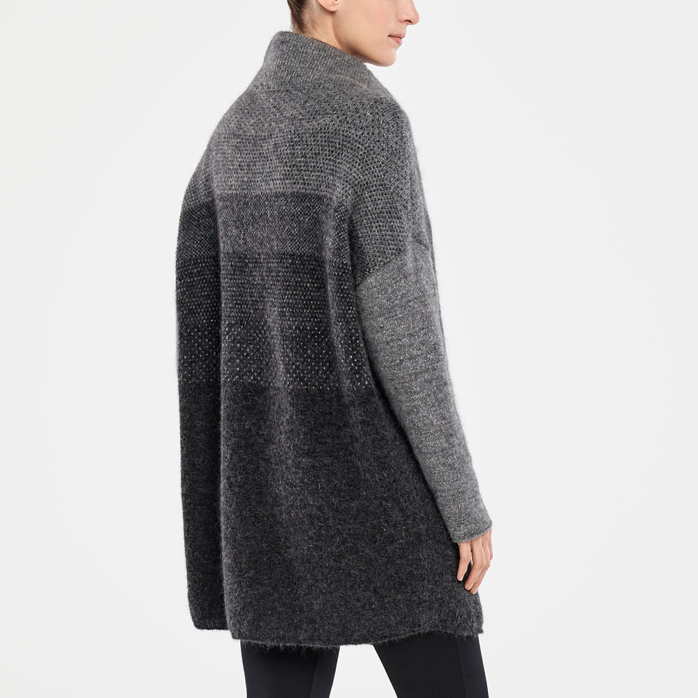 Sarah Pacini LONG CARDIGAN - OMBRÉ DESIGN Back view