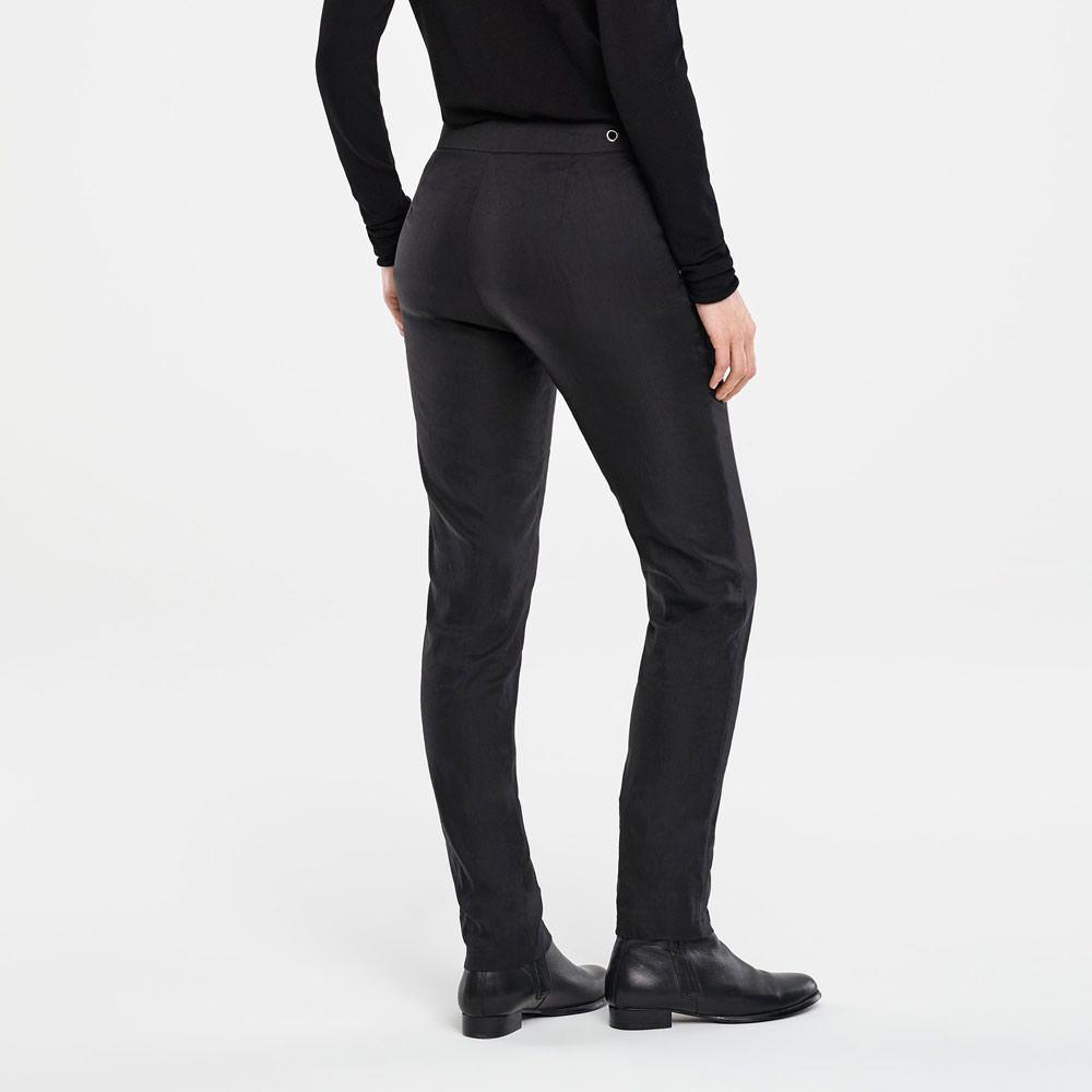Sarah Pacini STRETCH LINEN PANTS Back view